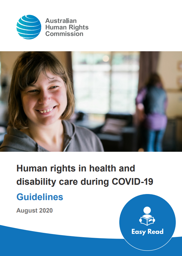 smiling woman on the cover of the easy read guidelines